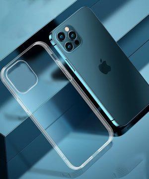 Luxusný silikónový obal pre iPhone 13, transparentný