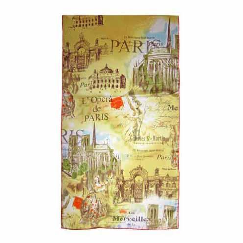 Luxusný hodvábny šál Paríž