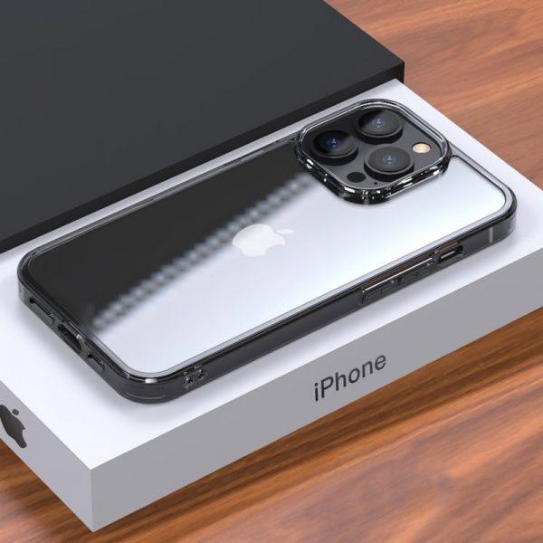 Luxusný sklenený štýlový kryt pre iPhone 13 MINI, transparentný